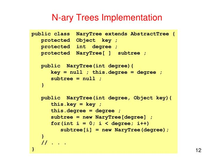 N-ary Trees Implementation