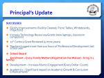principal s update