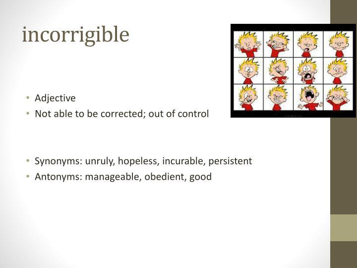 incorrigible