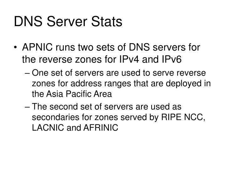 DNS Server Stats