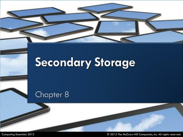 Distinguish between primary and secondary storage