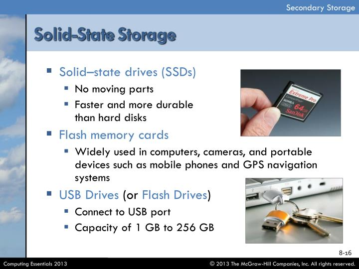 Solid–state drives (SSDs)