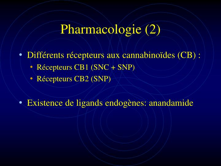 Pharmacologie (2)