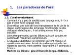 les paradoxes de l oral1