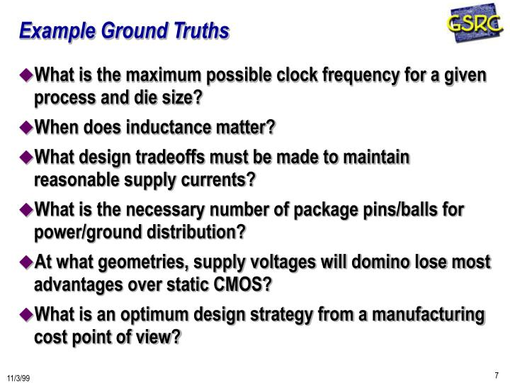 Example Ground Truths