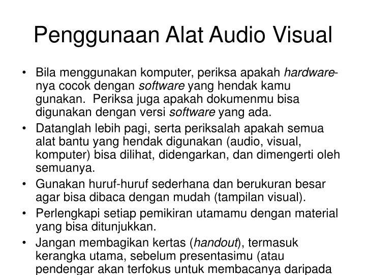 Penggunaan Alat Audio Visual
