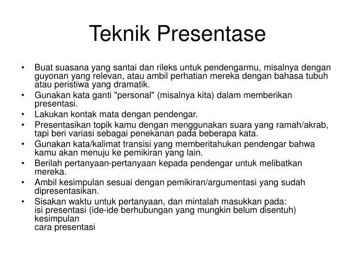 Teknik Presentase