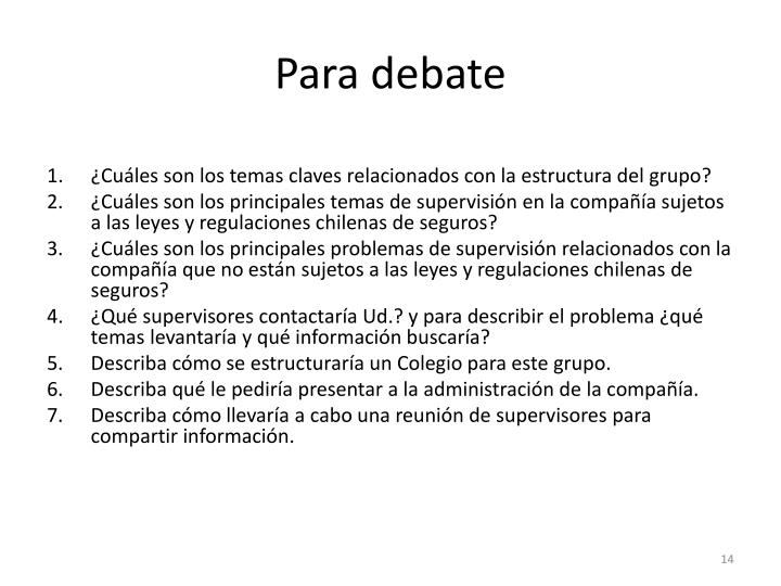 Para debate
