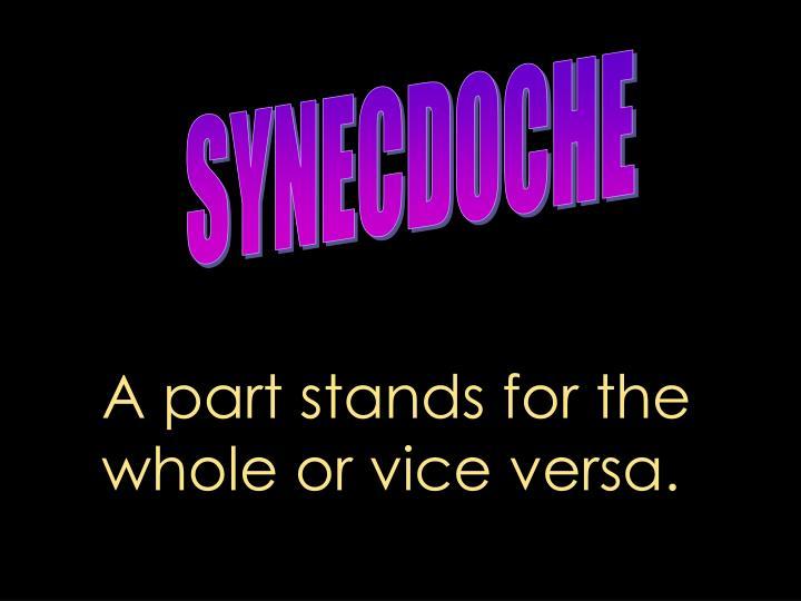 SYNECDOCHE