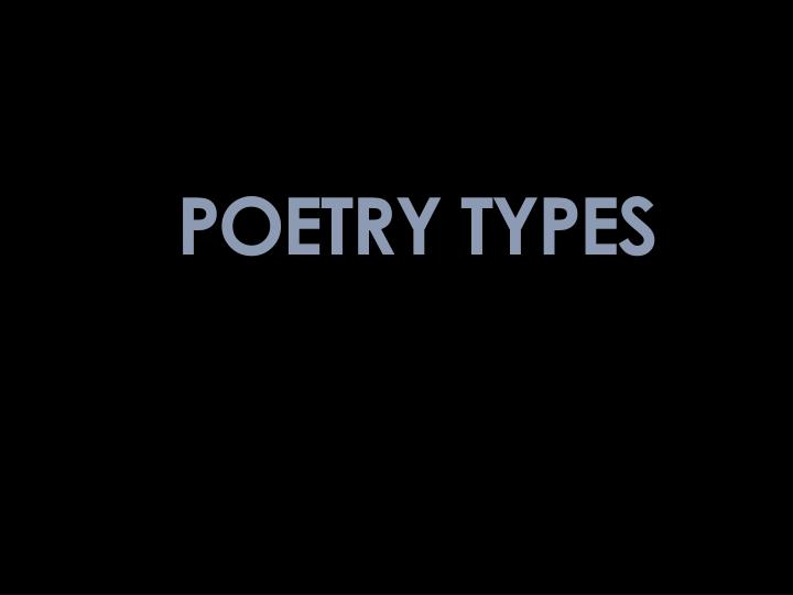 POETRY TYPES