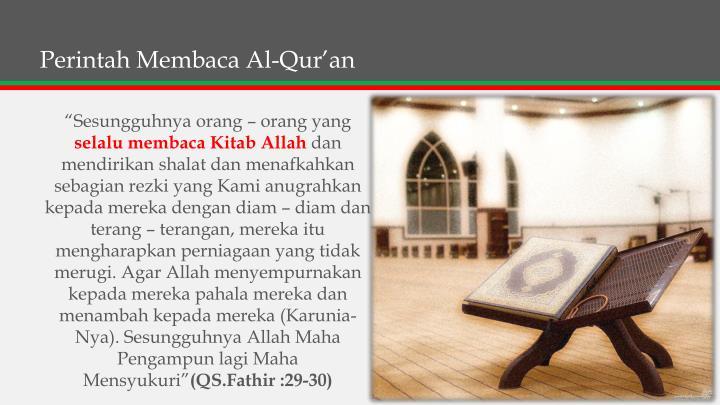 Perintah MembacaAl-Qur'an