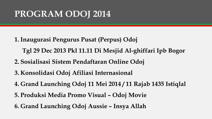 PROGRAM ODOJ 2014