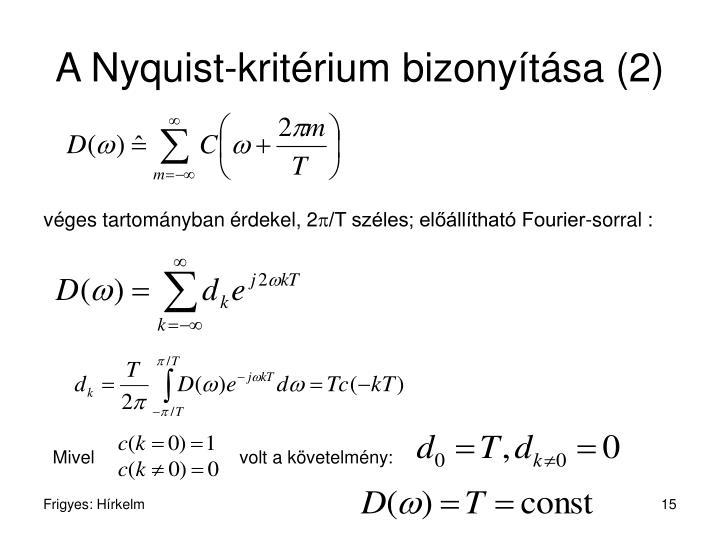 A Nyquist-kritérium bizonyítása (2)