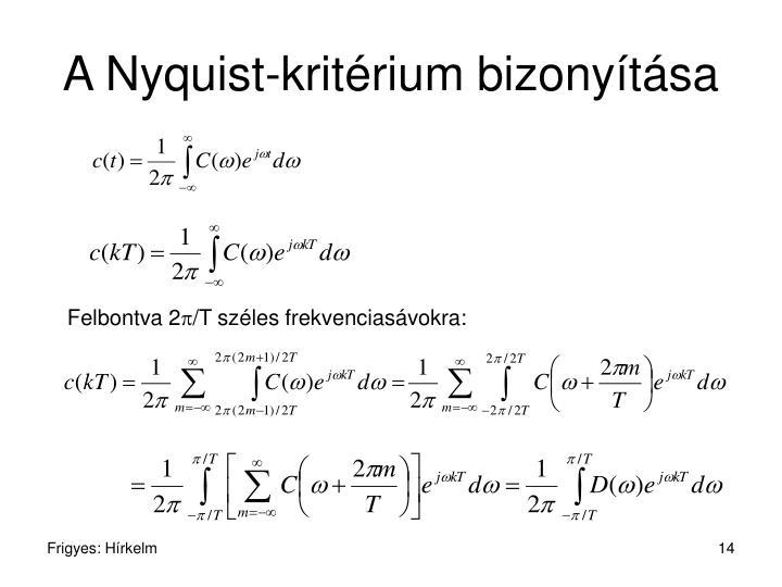 A Nyquist-kritérium bizonyítása