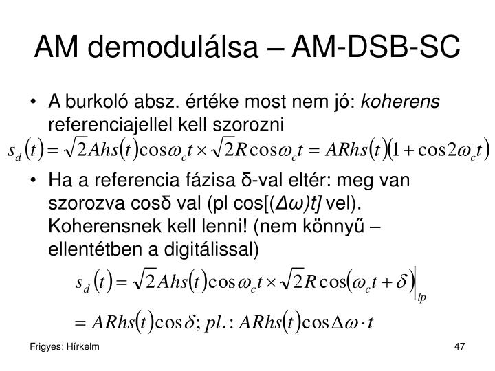 AM demodulálsa – AM-DSB-SC