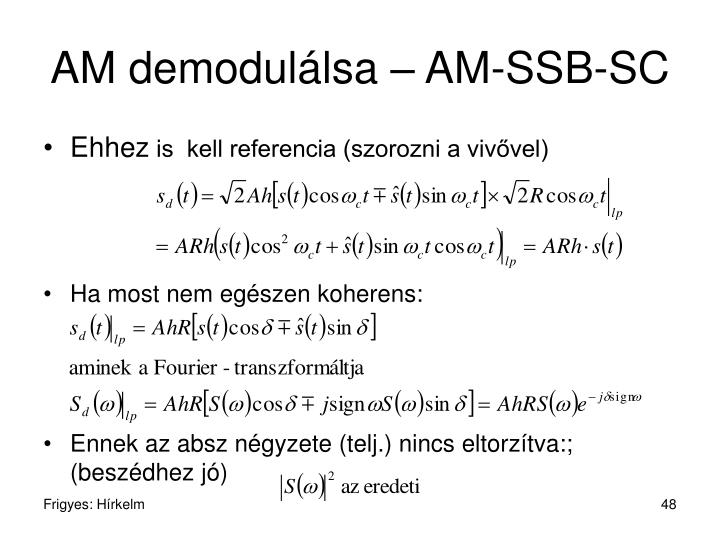 AM demodulálsa – AM-SSB-SC