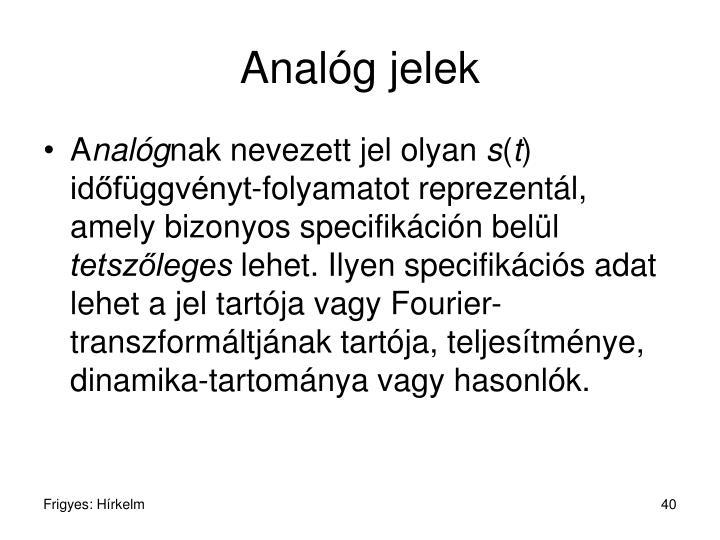 Analóg jelek