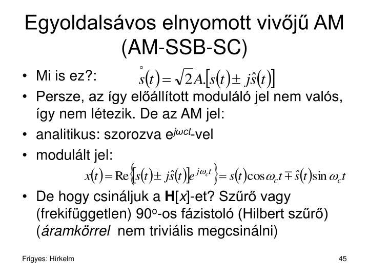Egyoldalsávos elnyomott vivőjű AM (AM-SSB-SC)