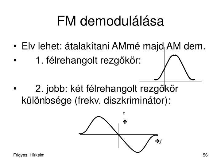 FM demodulálása