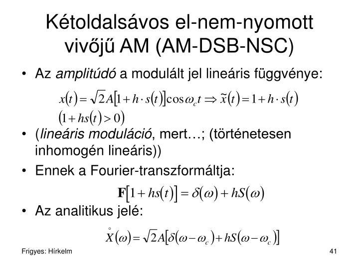Kétoldalsávos el-nem-nyomott vivőjű AM (AM-DSB-NSC)