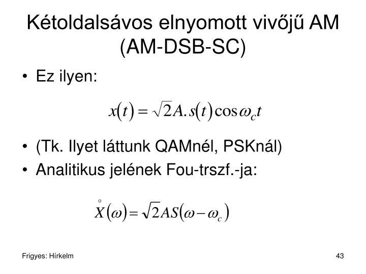Kétoldalsávos elnyomott vivőjű AM (AM-DSB-SC)