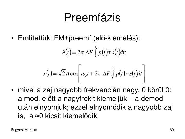 Preemfázis