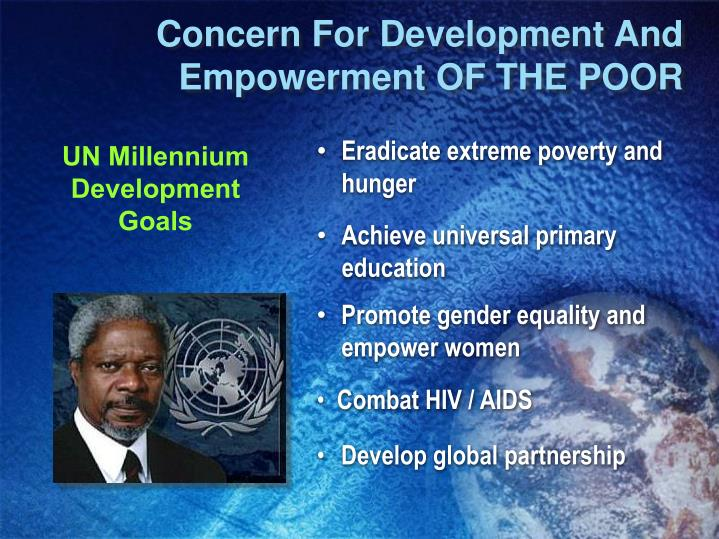 Concern For Development And Empowerment OF THE POOR