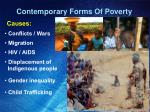 contemporary forms of poverty