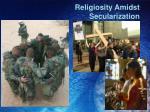 religiosity amidst secularization