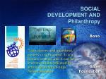 social development and philanthropy