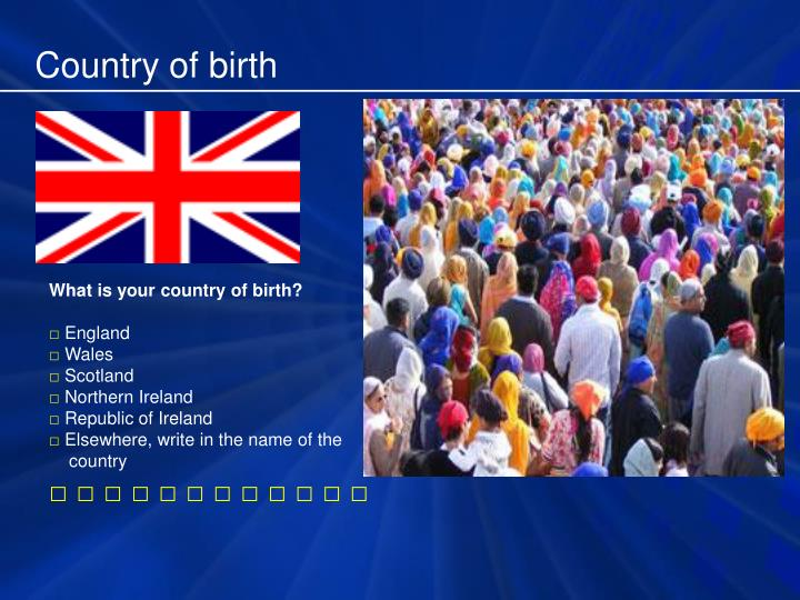 Country of birth