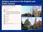 religion question in the england and wales census