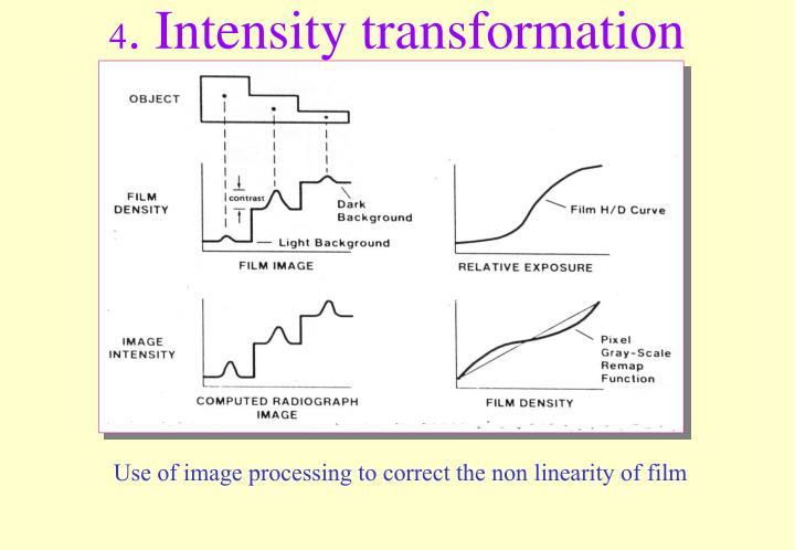 4. Intensity transformation