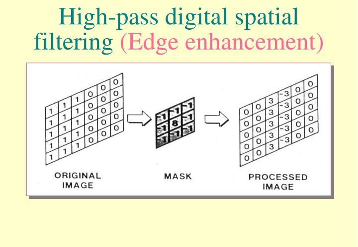High-pass digital spatial filtering