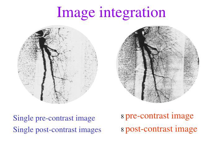 Single pre-contrast image