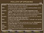follow up speaking1