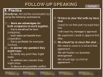 follow up speaking2
