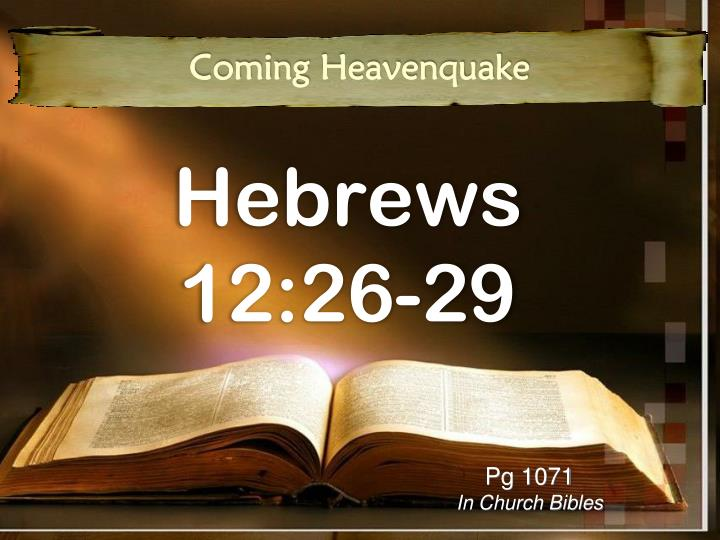 Hebrews 12 26 29