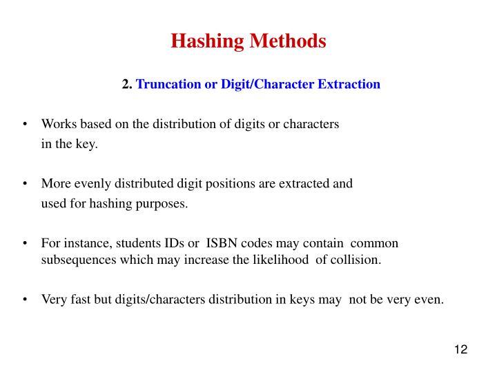 Hashing Methods
