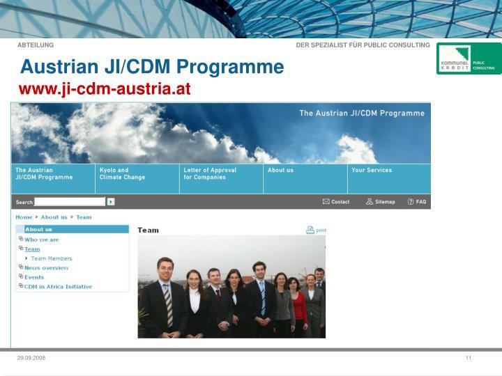 Austrian JI/CDM Programme