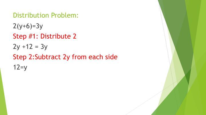 Distribution Problem: