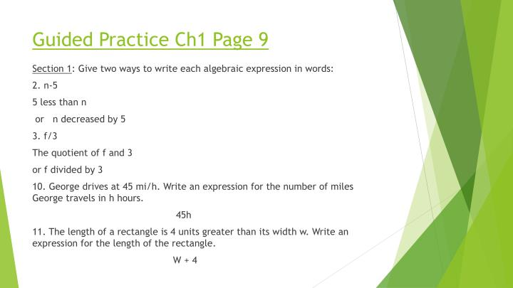 Guided Practice Ch1 Page 9