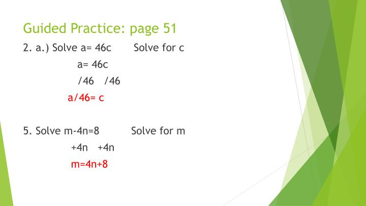 Guided Practice: page 51