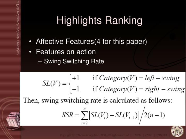Highlights Ranking