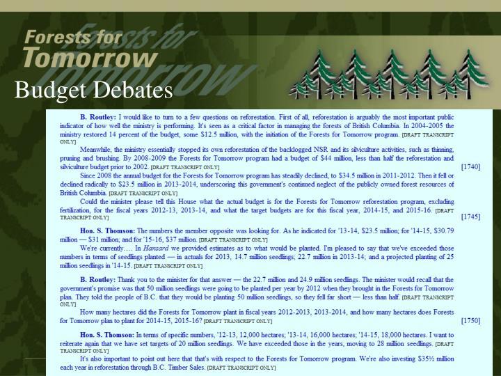Budget Debates