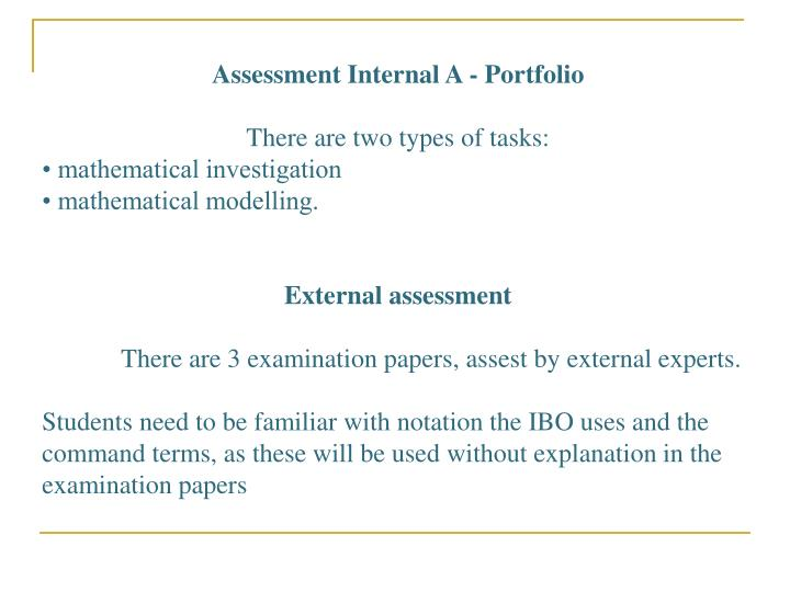 Assessment Internal A - Portfolio