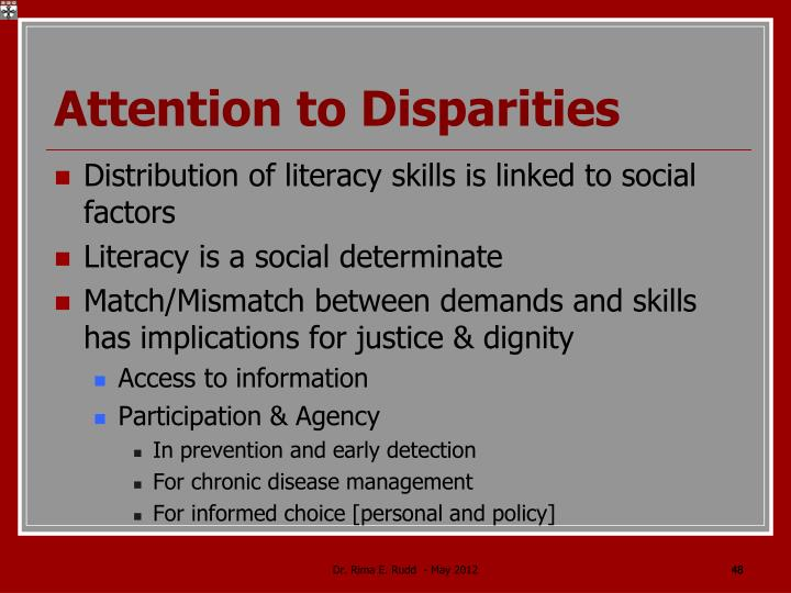 Attention to Disparities