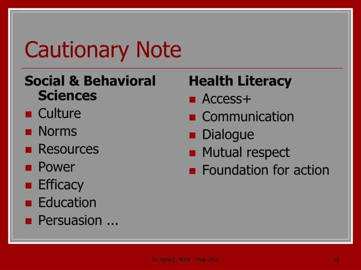 Social & Behavioral Sciences