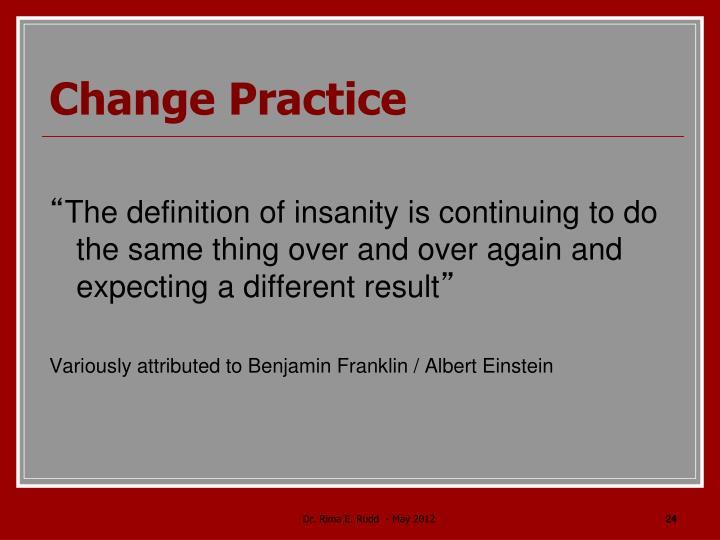 Change Practice