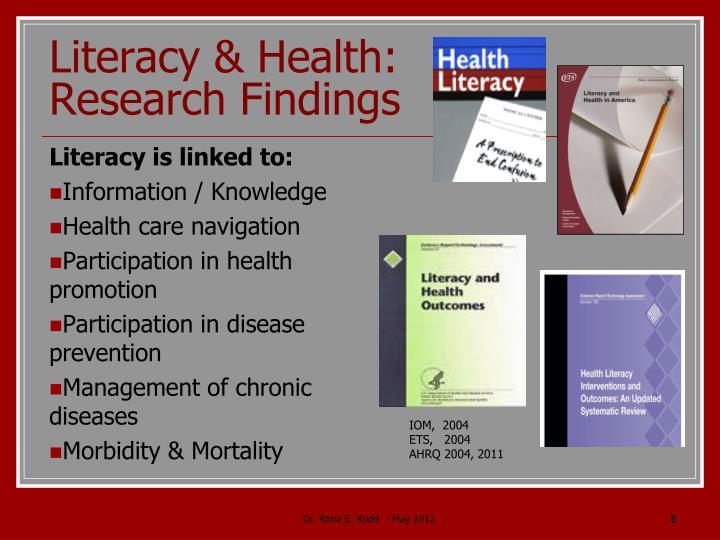 Literacy & Health: